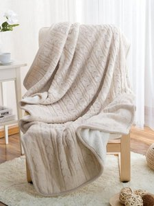 European-Style Blanket Warm Velvet Knitted Casual Blanket Throw Home Textile for Bedroom Sofa Office School Dropshipping