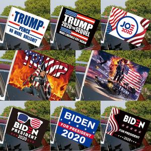 Mode Biden Car Flag 45 * 30cm 2020 Trump Election présidentielle américaine Imprimer Drapeau de fenêtre de voiture compris Flagpole DDA556