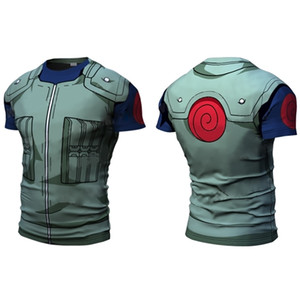New Men Uzumaki Naruto 3D Short Sleeve T Shirt Hatake Kakashi Uchiha Sasuke t-shirt Halloween Cosplay Costumes size s-4xl 0921
