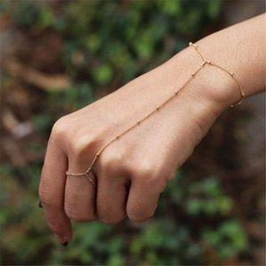 Los más vendidos de una pieza de las mujeres versátiles pulseras abalorios pulseras para la joyería de la hoja del nudo de la mano de Gemelos encanto de la pulsera del brazalete del 50 @