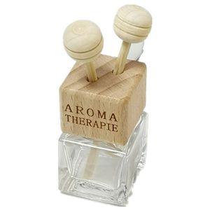 frascos de perfume con madera tornillo botella botella de perfume de cristal cuadrada de salida de aire tapa y clip coche acondicionador de aire del aroma del coche difusor HHC2044