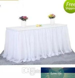 utu Tulle Table Skirt Cloth for Party Wedding Home Decoration