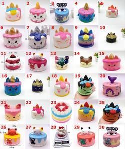 esponjosa torta rosada linda de los juguetes 11 cm de cola colorido pastel de dibujos animados Kids Fun Cakes de recuerdos táctiles de levantamiento de Kawaii Squishies
