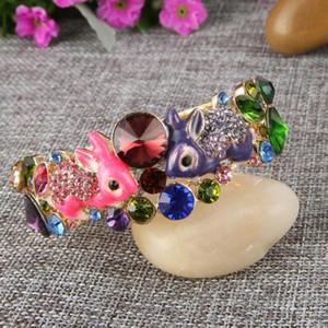 Tuliper Красочные Эмаль браслеты браслет животных браслет австрийских кристаллов браслет манжета для женщин Ювелирные аксессуары Подарки