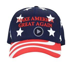 H-T750 Stickerei Stellen America Great Again Hat Donald Trump Kappen MAGA Trump Unterstützung Baseballmütze Sports Baseball aus China direkten Caps