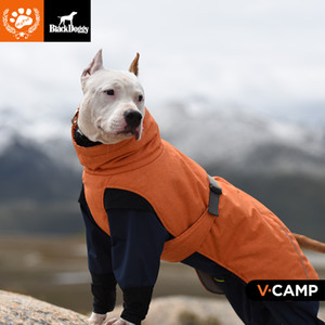 WACO Dog Winter Jacket, Size L Polyester Filling Fabric Waterproof Windproof,Dog Apparel Cold Weather Dog Vest Winter Coat Outerwear Gray