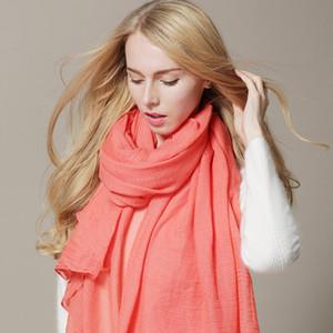 Sonbahar 2020 Yeni Geliş Eşarp Kadınlar Elbise Eşarplar Kış Isınma Pamuk sarar Katı Renkler Giyim Aksesuarları