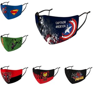 The Avengers 3D Printed Kids  face mask adjustable protective mask dust and haze breathable face masks DHF1144