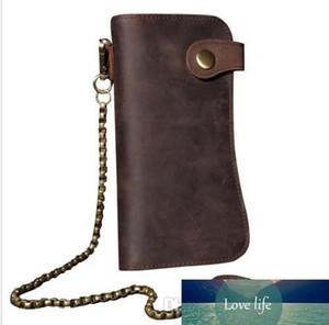 Men's Leather Chain Wallet Card Holder Billfold Checkbook Trucker Biker Clutch