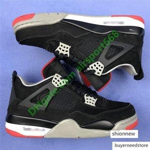 Scarpe 07 4 4s fredda Bred Grey Jumpman di pallacanestro degli uomini Thunder Black Cat Green Grow Cactus Jack Rapotors Mens Sneakers Designer di lusso