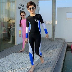 Warm muchachos traje de baño de ufH08 c7ghY niños y traje de baño' de una sola pieza de buceo hembra surf de manga larga de abrigo impermeable pantalones a prueba de sol