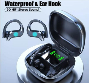 fashion style ear hook TWS Wireless Bluetooth led display Headphones Headsets vs b10 b11 F9 buds for smart phone samsung s10 factory out