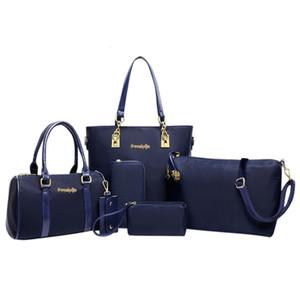 6Pcs Набор сумки женщины Мода Шесть Piece Set плечо Crossbody сумка конструктора сумка Сумка Женщина сцепление Mochila G10