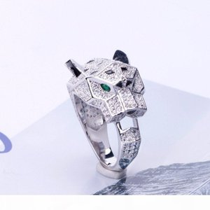 Designer Fashion Rings Luxury Green Eyes Full Diamond Animals Ring Mens Womens Gold Silver Rose Wedding Rings Fine Jewelry Couples Gifts
