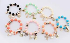 Charm Bracelets for Women Men Eiffel Tower Heart Italy Bijouterie Bead Bracelet