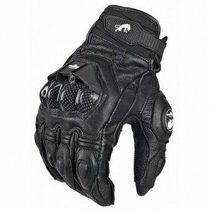 Men's Leather Furygan AFS 6 Motorcycle Gloves Black Moto Racing Gloves Bicycle Cycling Motorbike Riding Glove Women au5w#