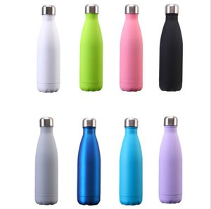 Tumblers Cola Shape Mugs Stainless Steel Double Wall Water Bottle Vacuum Insulated Tumblers Cups Portable Sports Kettle Sea Shipping AAB1163