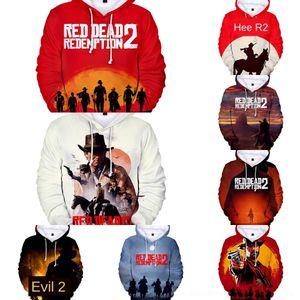 fD64p 디지털 새로운 RED DEAD 상환이 3D 후드 새 빨간 스웨터 상환 2 차원 DEAD jIzZ5 디지털 스웨터를 후드