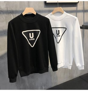 Homemade original printing pullover sweater men's slim round neck bottoming shirt casual long-sleeved T-shirt top tide