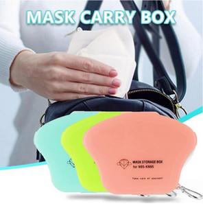 4 цвета высокого качества для лица Маска для хранения Box пылезащитный чехол Маска хранения Box Портативный рот маски Симпатичные Pure Color мешок с крючком Портативный