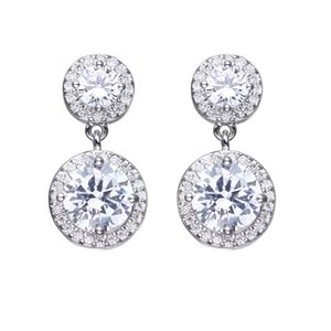 Bettyue Classical Jewellry Design Round Shape Cubic Zircon Elegant Stud Earring White For Female Dress Up In Fashion Party