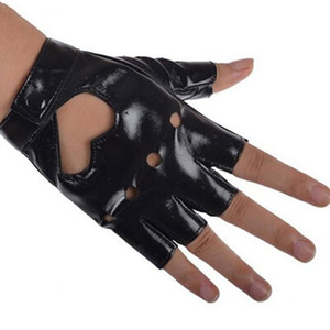 Newly Women PU Leather Motorcycle Bike Car Fingerless Performance Gloves DO99