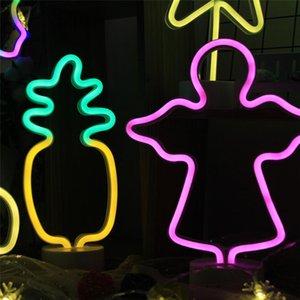 Cgjxs Fenglaiyi Unicorn / Dolphin / Dinosaur / Cat Illuminazione dell'interno della lampada da parete ha condotto la luce di notte Marquee batteria della luce al neon Per la casa