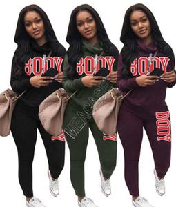 dois equipamentos peça cair mulheres camisola s duas peças fatos de jogging designers de roupas 2020 agasalho Conjunto de 2 piezas de ropa de mujer D92303