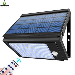 2020 New 48LED mur lumière solaire pliable éclairage extérieur 6 Modes d'éclairage étanche Super Bright PIR détecteur de mouvement Lampe de jardin