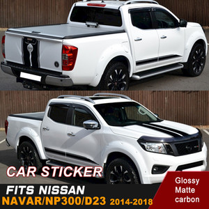 Car Sticker Fit For NISSAN NAVARA NP300 Side-Hood-Tail Door Rear Trunk Cool Shark Stripe Graphic Vinyl Car Decals