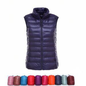 vgvfhzy Marke 3XL 4XL Large Size Weste Frauen Warm Vest Ultra Light Daunenweste Frauen Tragbarer Ärmel Winter-warmen Liner