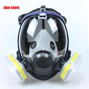 Chemischer Maske 6800 7 in 1 Gasmaske Staubdichtes Respirator Farbe Pesticide Spray Silikon-Full Face Filter für Laborschweiß
