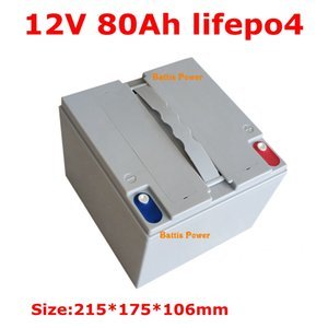 Waterproof 12.8V 80ah Lifepo4 Battery 12v Lithium Batteria BMS 4S for Solar Energy House Hold Electric Supplie +10A Charger