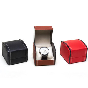 Watch Gift Box PU Leather Elastic Flip PU Leather High End Jewelry Box With Pillow Watch Packaging For Bangle Ring Earrings HHC1839