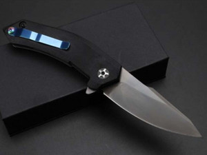 ZT Zero Tolerance 9320 ZT9320 flipper knife 7cr17mov G10 handle Folding pocket Knife xmas gift knives