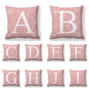 Nuovo modello Peach velluto pelle cuscini 26 lettere di inglese cuscini del divano letto di federa decorazione domestica 45x45cm 3 9JW D2