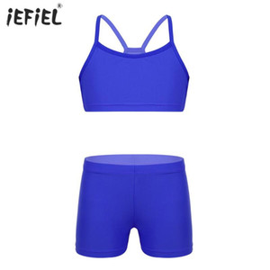 Baby Girls Clothes Set Summer Fashion Solid Short Tank Tops Shorts Sports Gym Workout Two-piece Children Kids Clothes
