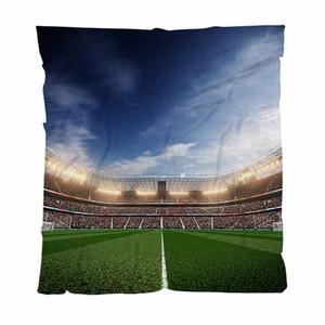 Warm Flanell Decken Soft-Massivdecken Soccer Stadium Blu Sky und Couch / Stuhl / Love Seat / Auto-Camping Blanket