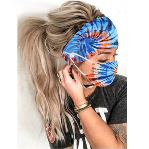 New Yoga Creativity Hair Band Mask Set Button lanyard Dustproof Anti-fog Breathable Antiperspirant Fashion Masks For Women AAB1890