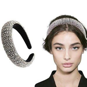Rhinestone-Kristall-Diamant-Stirnband für Frauen-Dame Glänzendes Haar Bands Handgemachte Weit Haar-Band-wulstige Bling Fashion Jewelry 4 Styles DWE2349