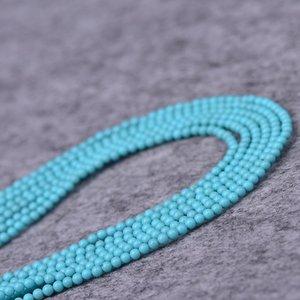 cristallo VIRHE naturale 2MM 3MM colore turchese allentato semi-finito perline perline braccialetto perline perline nappa collana dell'intarsio