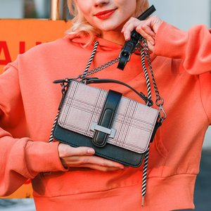 2020 fashion small bag new foreign style slanting women bag universal business small square shoulder