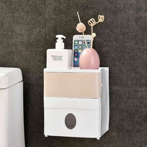 1PC Toilet Paper Holder Waterproof Wall Mounted Toilet Paper Tray Roll Paper Tube Storage Box Tray Tissue Box Shelf Bathroom