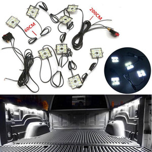 8pcs Universal White Waterproof Support Flashlights LED Bed Light Rear Box Lamp Combination With 8 Block for Truck Van Pickup