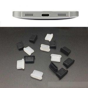 De silicona a prueba de polvo cubierta del casquillo del conector del cargador del enchufe de tipo C Puerto Anti-polvo para el teléfono móvil Samsung Huawei Accesorios para teléfonos inteligentes