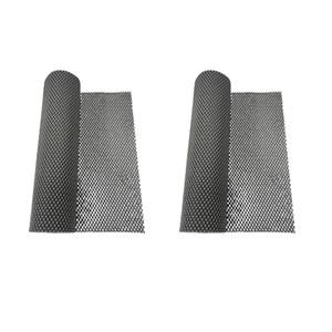 2 Rolls Gray 30x200cm PVC Foam Rubber Non-slip Kitchen Cupboard Box Liner Drawer Mat Under Rug Grip