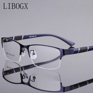 Reading e senhora óculos de leitura de alta Grade de Metal Half-Quadro das dioptrias Óculos homens homens