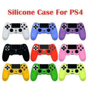 부드러운 실리콘 케이스를 들어 PS4 / 슬림 컨트롤러 유연한 젤 고무 피부 케이스 커버 소니 플레이 스테이션 4 게임 컨트롤러 액세서리 DHL 무료