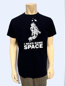 Мужчины 2019 Марка одежды Casual Лучшие качества футболки Мужчины O шеи I Need Некоторые Пространственно-Menstshirt-Cotton Смешной O-Neck Tee рубашки