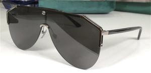 Yeni moda tasarımı koruyucu gözlük gözlüğü UV400 0584S Pilot yarım çerçeve tek parça mercek avangard popüler kaliteyi güneş gözlüğü